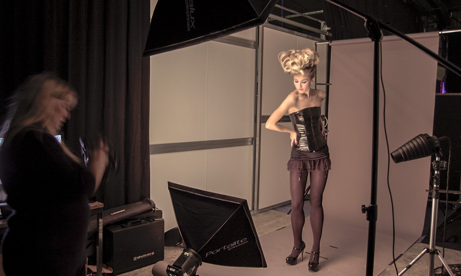 push plateau shooting photo l'oreal